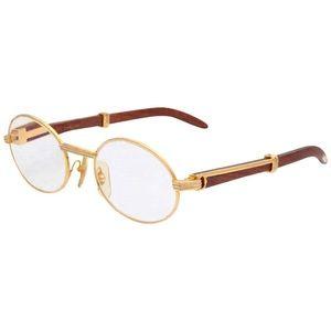 Men's vintage Cartier wood grain glasses